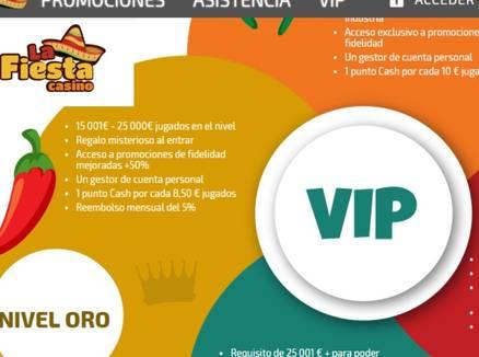 VIP La Fiesta Casino Promociones