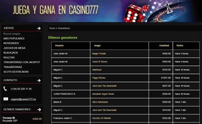 casino 777 ganadores