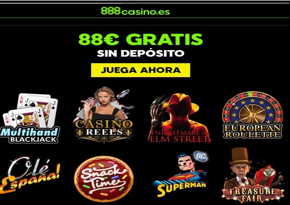 88 euros gratis para jugar en Casino 888