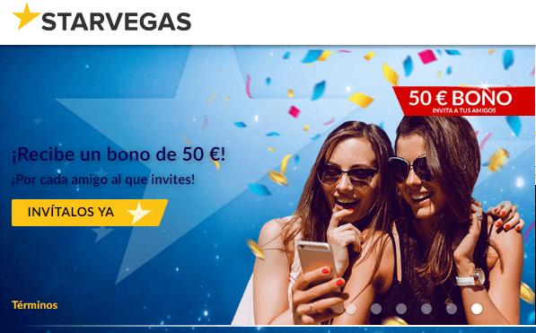 100% por primer depósito en Starvegas hasta por 200 euros