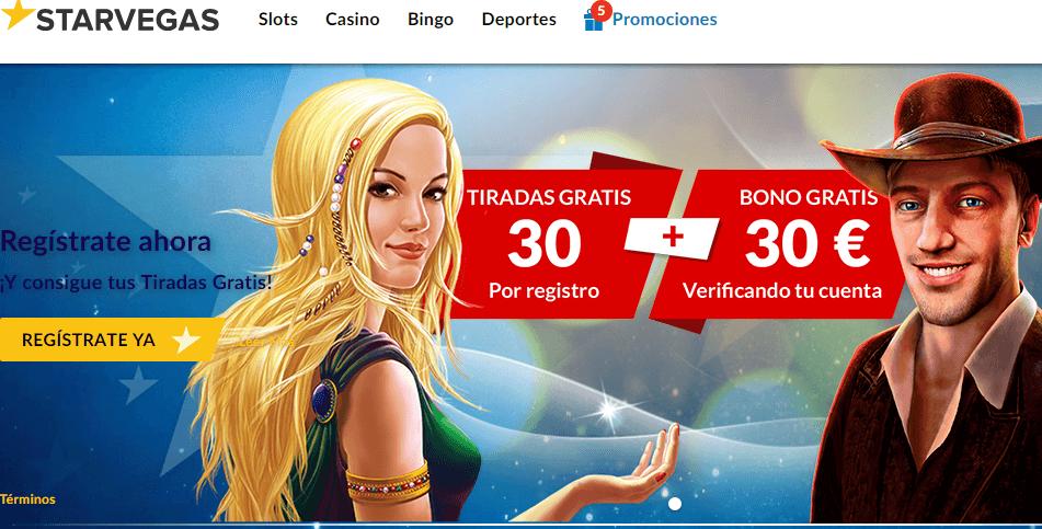 Casino Starvegas bono de bienvenida 100%