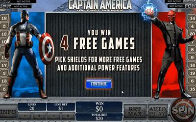 tragaperras Capitán América