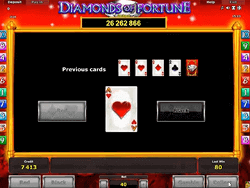 Diamonds of fortune tragamonedas