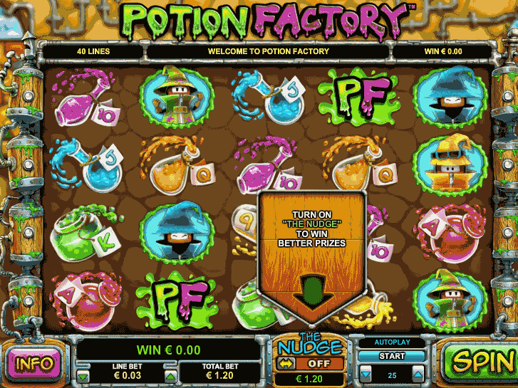 potion factory iframe